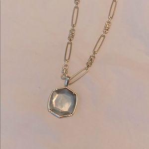 Davis Gold Pendant Necklace Gray Illusion
